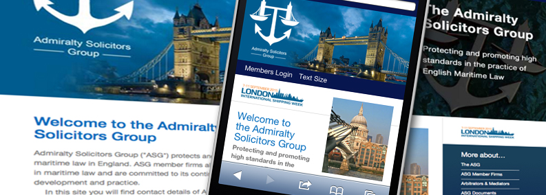 Admiralty Solicitors Group website